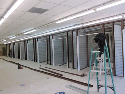 Constructing Indoor Self Storage Units