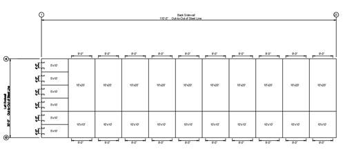 Mini Storage Outlet Floor Plans For Mini Storage Buildings