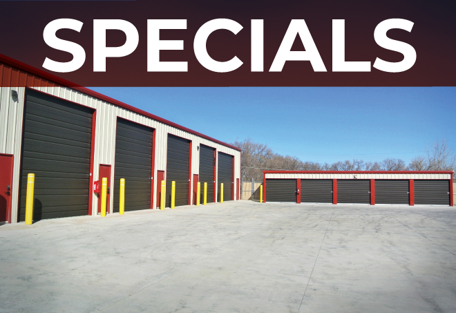 Mini Storage Building Specials