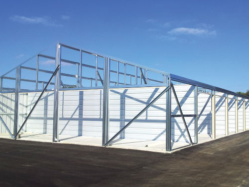 Erecting Self Storage Units