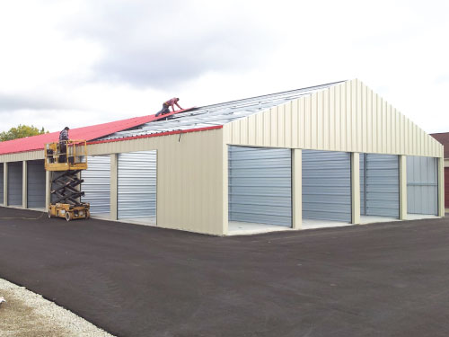 Erect Mini Storage Building